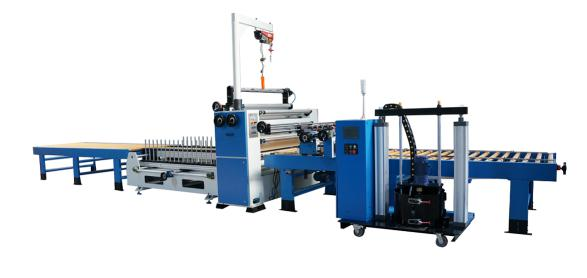MDF Profile Wrapping Line Partical Board Laminating Machine Panel Lamination PVC Laminating Line Cabinet Making Machine